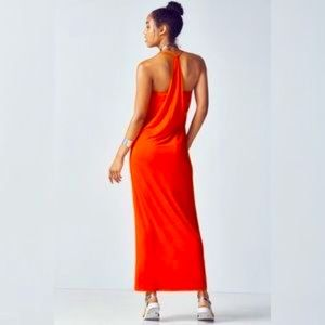 Fabletics Neema Orange Maxi Dress (L)